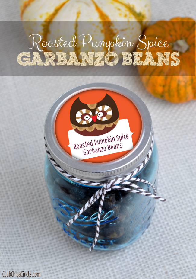 Homemade Roasted Pumpkin Spice Garbanzo Beans recipe
