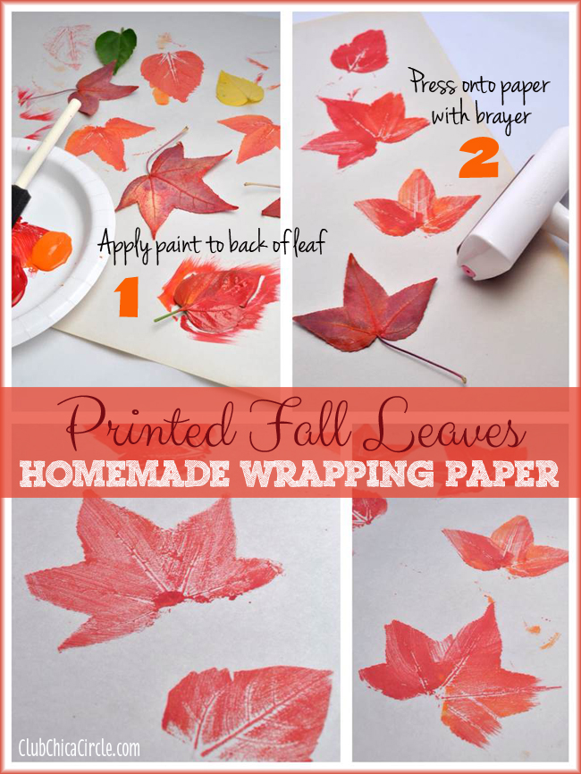 How to print leaves onto paper
