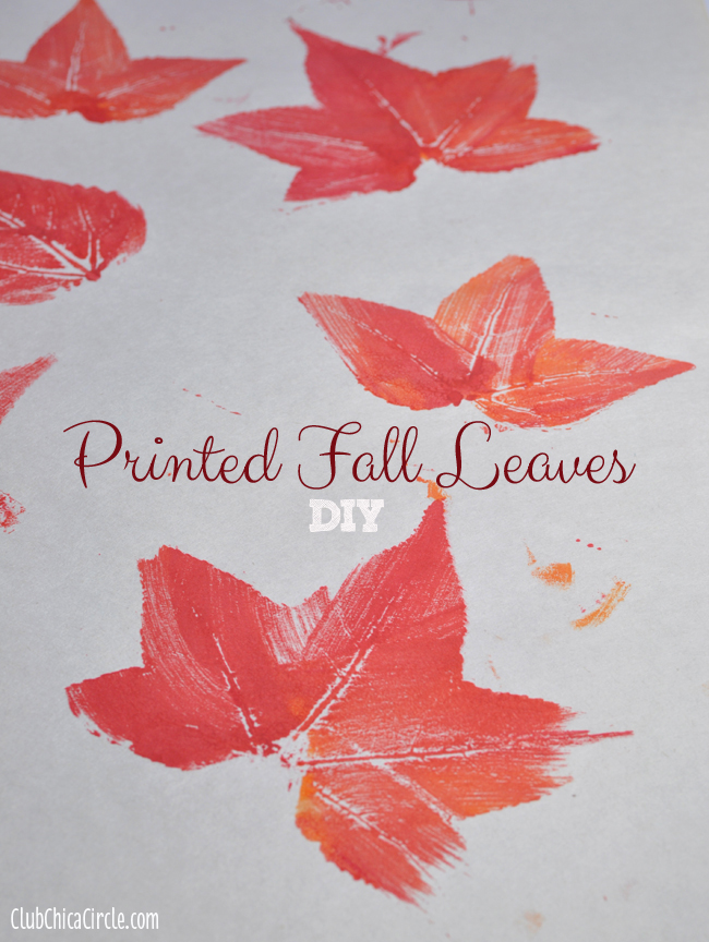 Printed Fall Leaves DIY