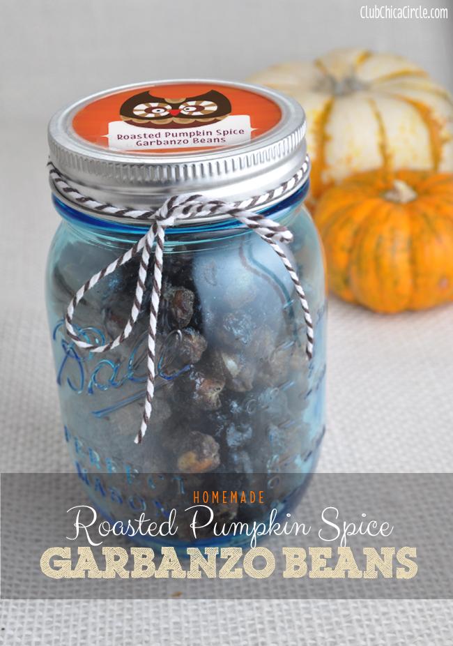 Roasted Pumpkin Spice Garbanzo Beans