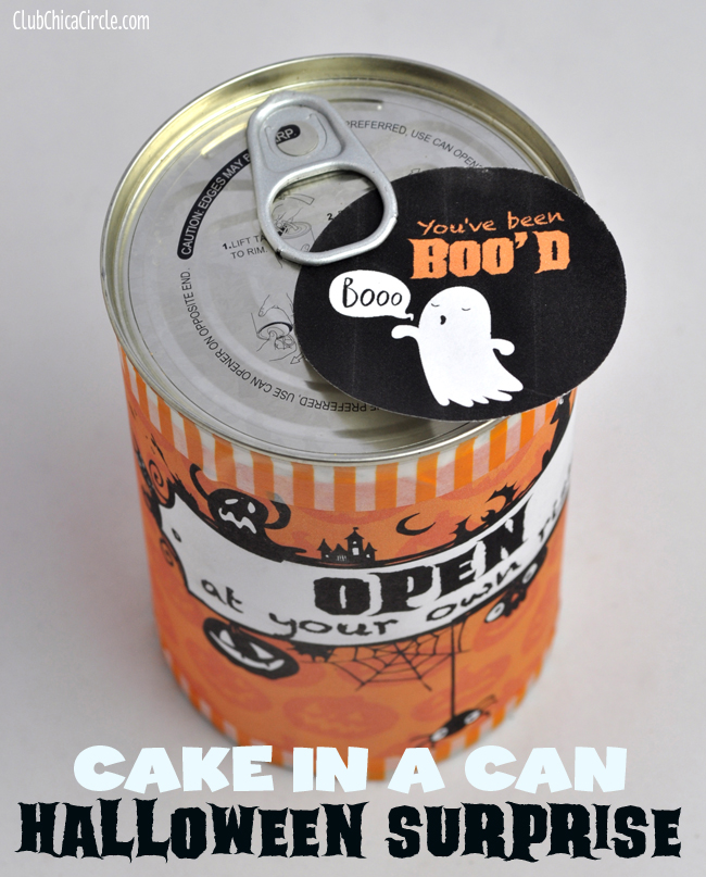 You've Been Boo'd Cake in a Can Craft Idea