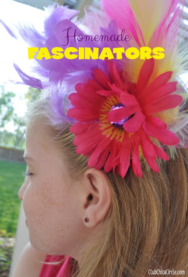 homemade Flower fascinator craft