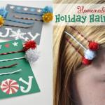 Homemade Holiday Hairpins tween craft idea