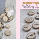 Interactive Burned Wood Wedding Guestbook