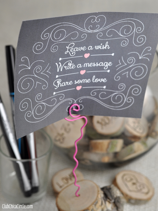 Nature themed Wedding Guestbook craft idea