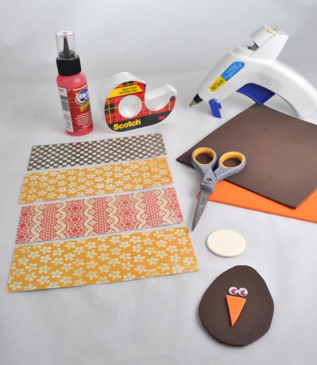 Paper Flower Turkey step 3 supplies