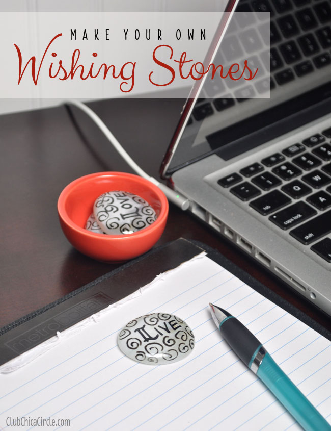 Wishing stones craft and gift idea