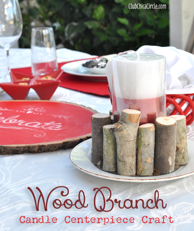 Wood Branch Candle Centerpiece Craft