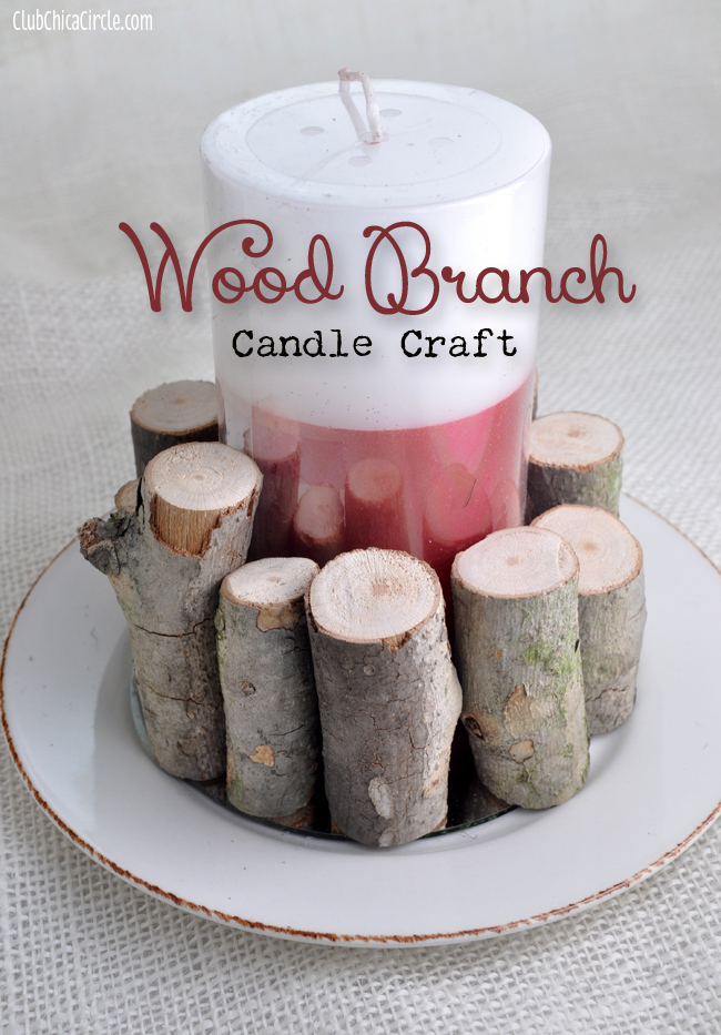 Wood Branch Candle Craft