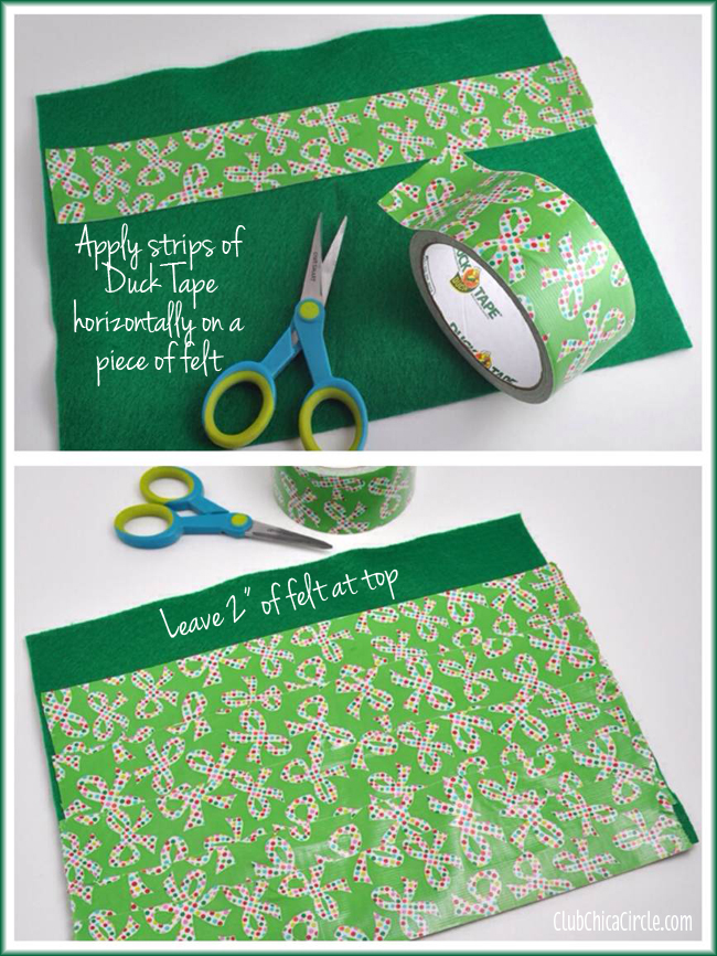 Duck Brand® Holiday Tape Stocking Craft DIY 1