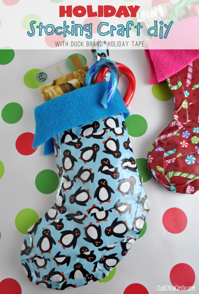 Duck Brand® Tape Holiday Stocking Gift Idea
