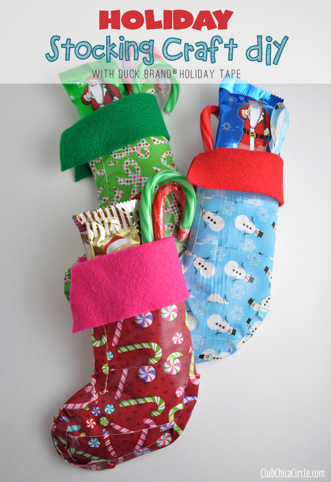 Duck Brand® Tape Stocking Gifts and Craft Idea