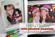 Holiday Doodling with Sharpie Markers on Framed Family Photos