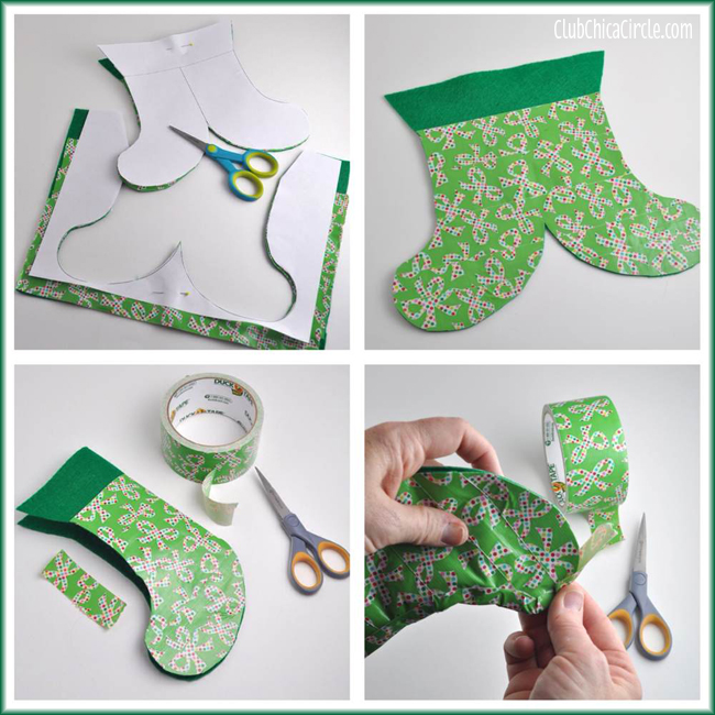 How to Make a Duct Tape Holiday Stocking Gift