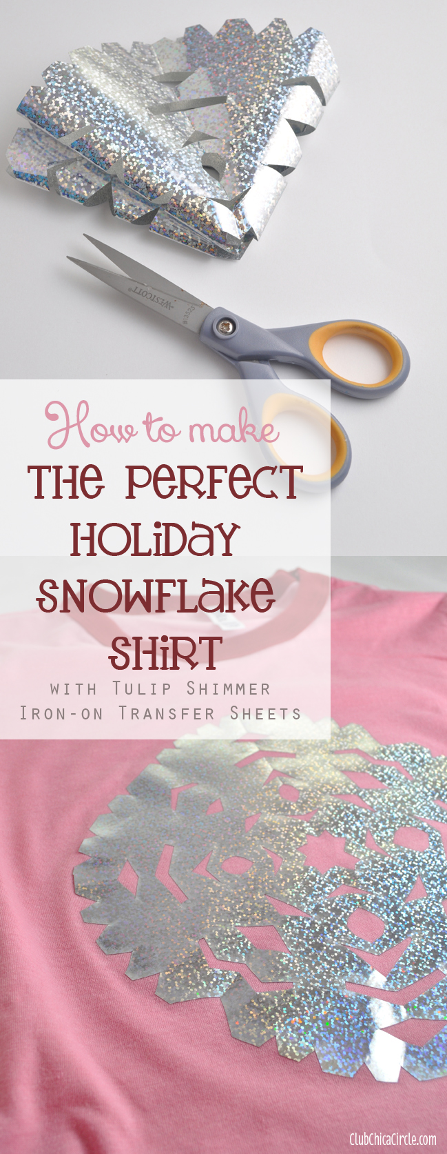 How to Make the Perfect Holiday Snowflake Shirt with Tulip