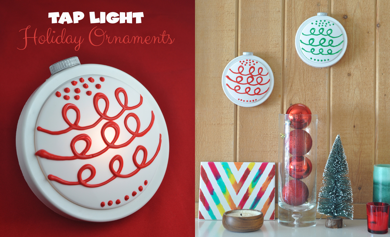Tap Light Holiday Ornaments for Holiday home decor