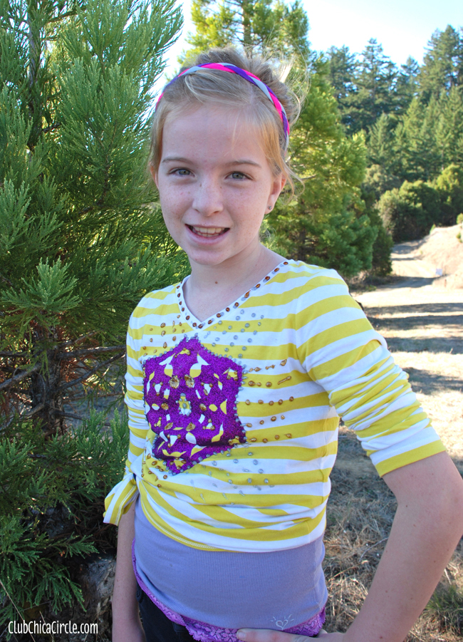 Tween Holiday Tee Shirt Craft Idea @clubchicacircle