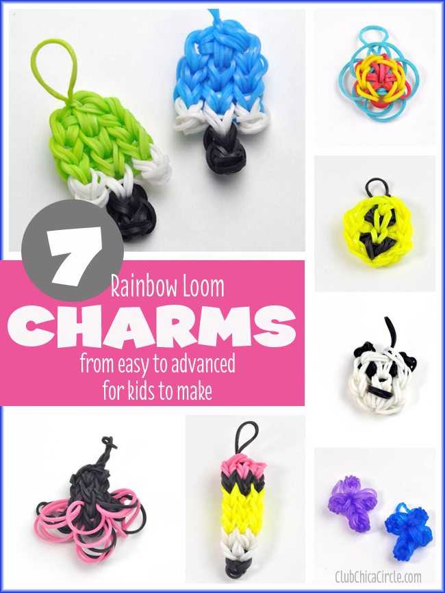 7 Rainbow Loom charms for kids to make