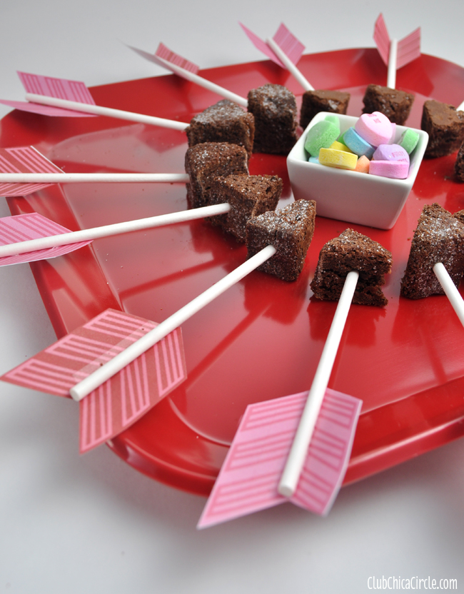 BakeryBecause Cupids Arrow Brownie Bites Party Tray