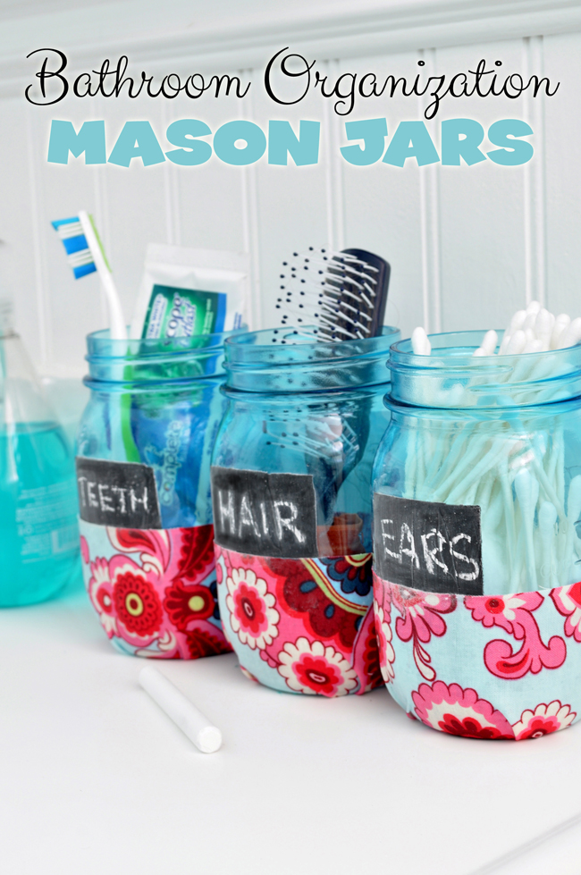 Bathroom Organization Mason Jars 72