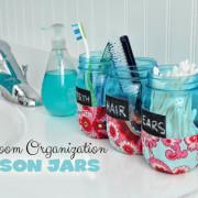 Bathroom Organizer Mason Jars DIY @clubchicacircle