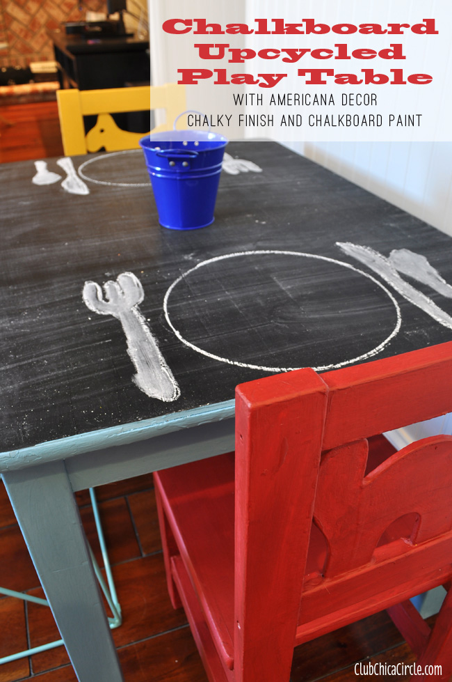 Chalkboard Kids Play Table Upcycle DIY
