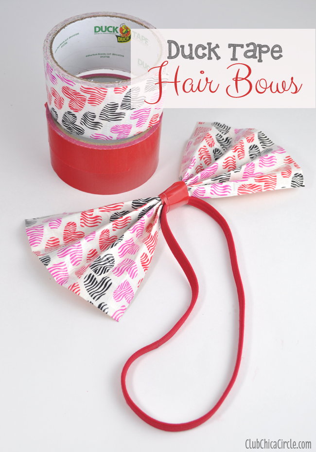 Duck Tape Hair Bows Craft Idea for Tween Girls