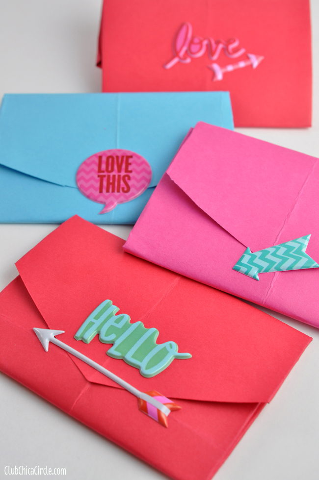 how to make a homemade envelope with a heart shape