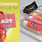 Homemade Art Set Gift Idea for aspiring artists