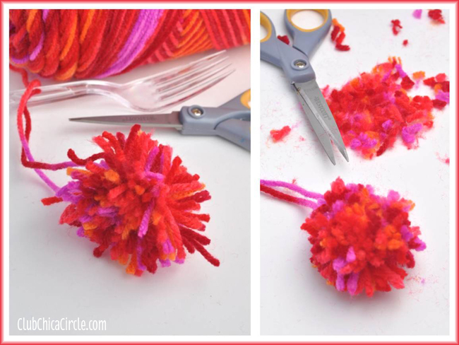 Homemade Yarn Pom Pom tutorial