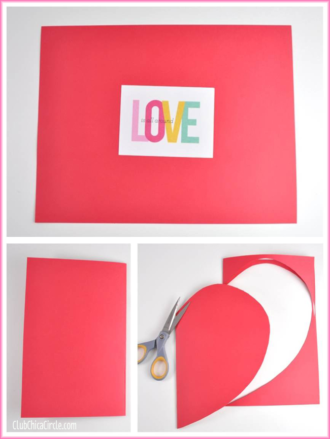How to make a homemade envelope from a heart shape