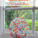 Melted Pony Beads on BBQ Suncatcher Craft Idea