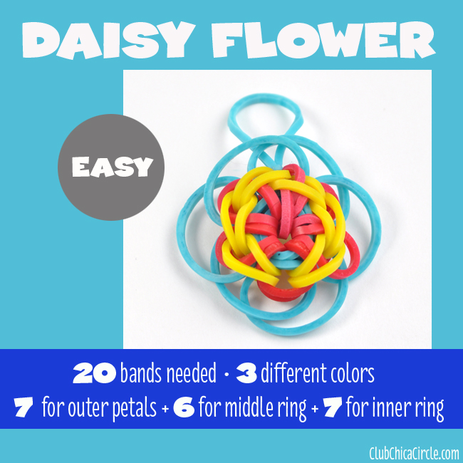 Rainbow Loom Easy Flower Charm chart