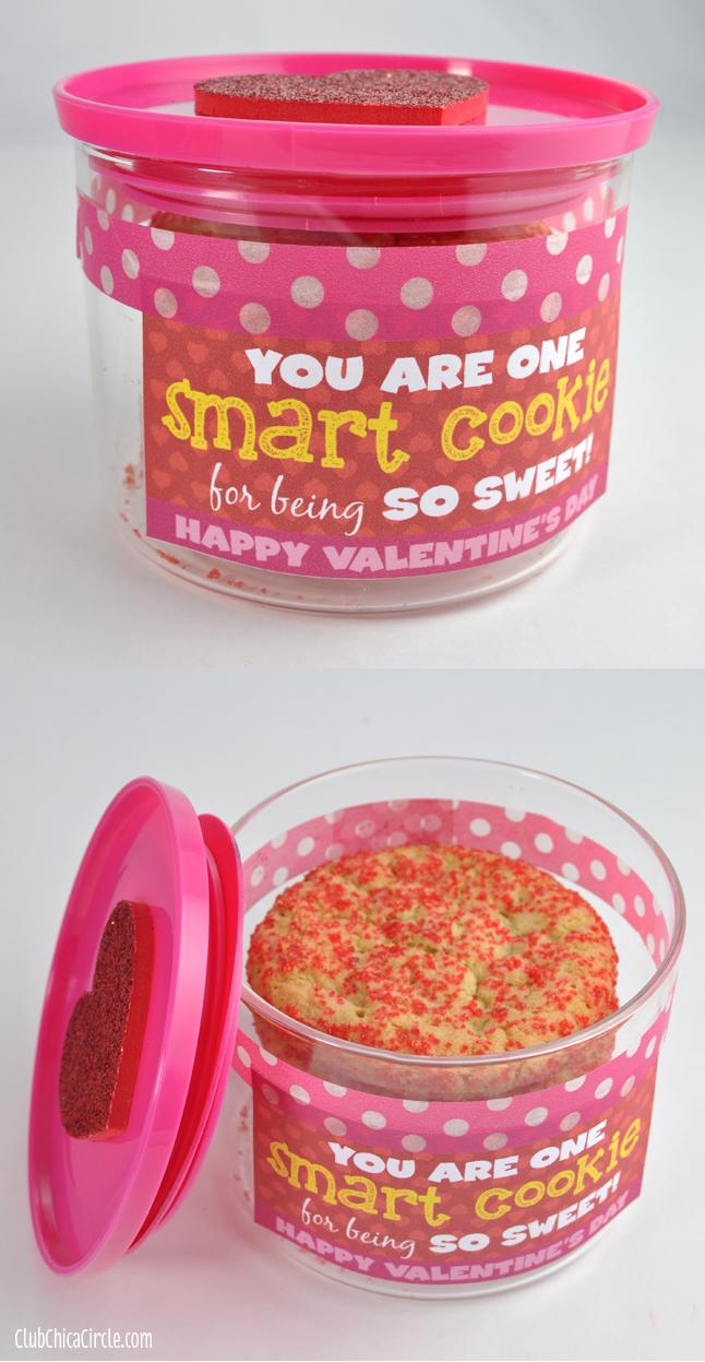 Smart Cookie Valentines Jar Gift Idea
