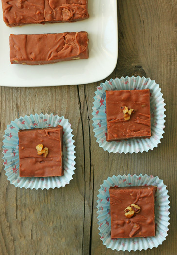 Velveeta Fudge by Dessert for Two