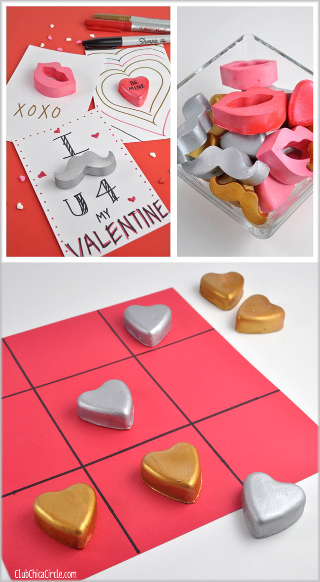 Fun things to do with Plaster of paris paperweights for Valentines Day