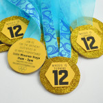 Homemade Olympic Medals Birthday Party Invites