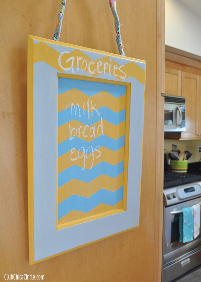 How to Upcycle a Cabinet Door into a Memo Chalk Board