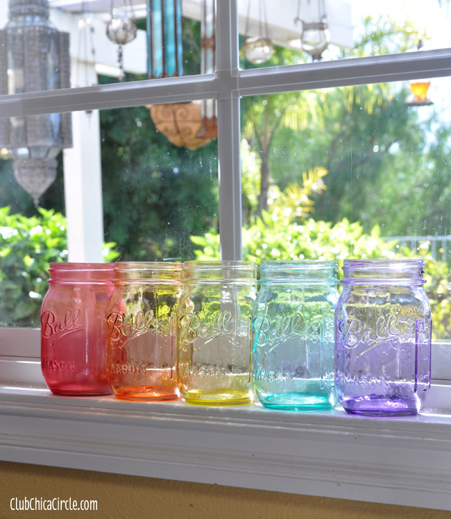 How to hand tint mason jars craft
