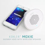 Moxie bluetooth wireless speaker shower head