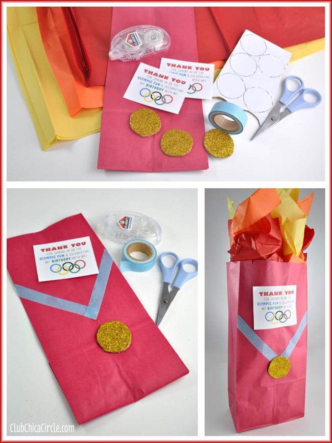 Olympic Themed Birthday Party Ideas and Crafts