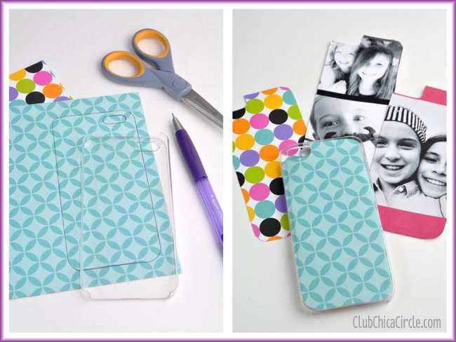Personalized iPhone cases with paper and pictures tween craft