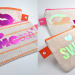 Personalized pencil pouches for tweens with iron on glitter