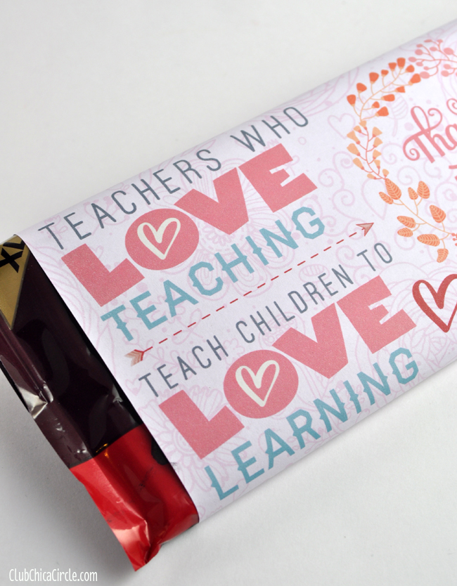 Teacher Thank You Appreciation Printable