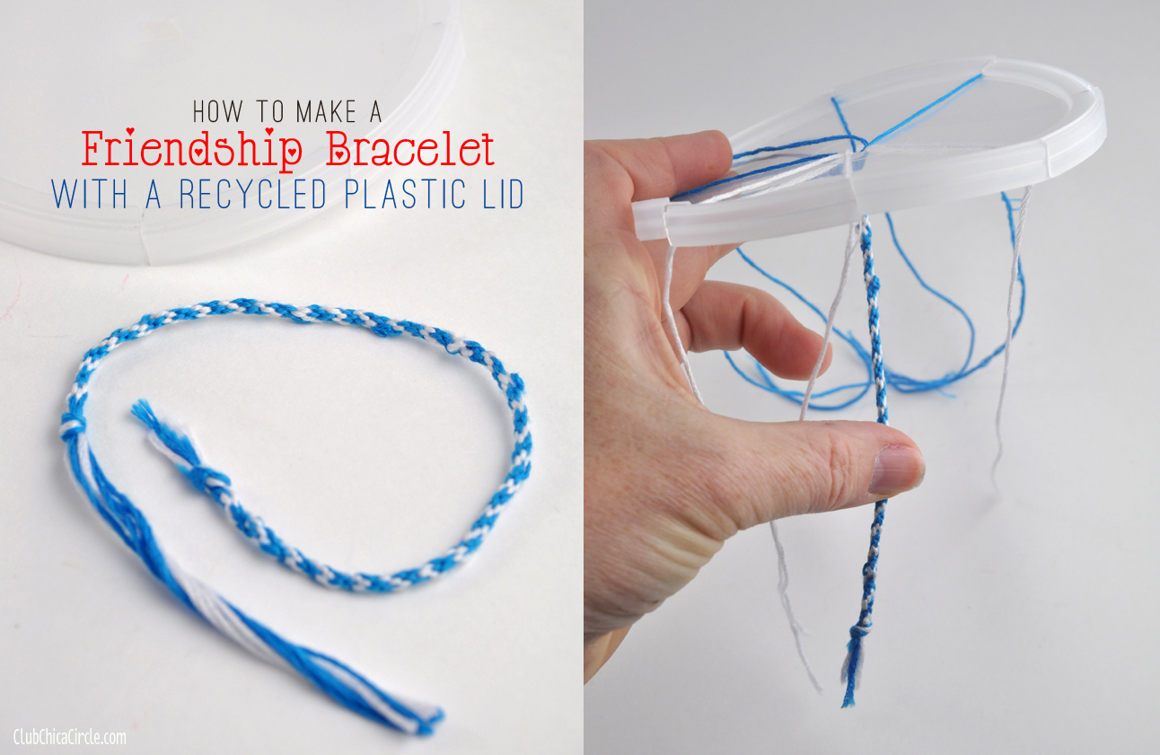 easy friendship bracelet wheel with recycled plastic lid
