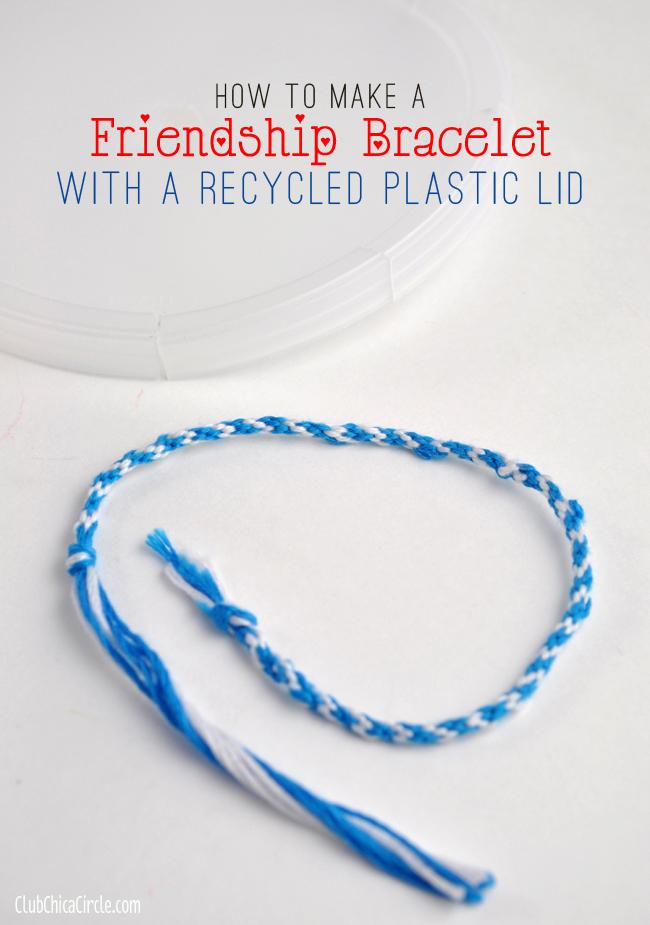 easy homemade friendship bracelet wheel DIY