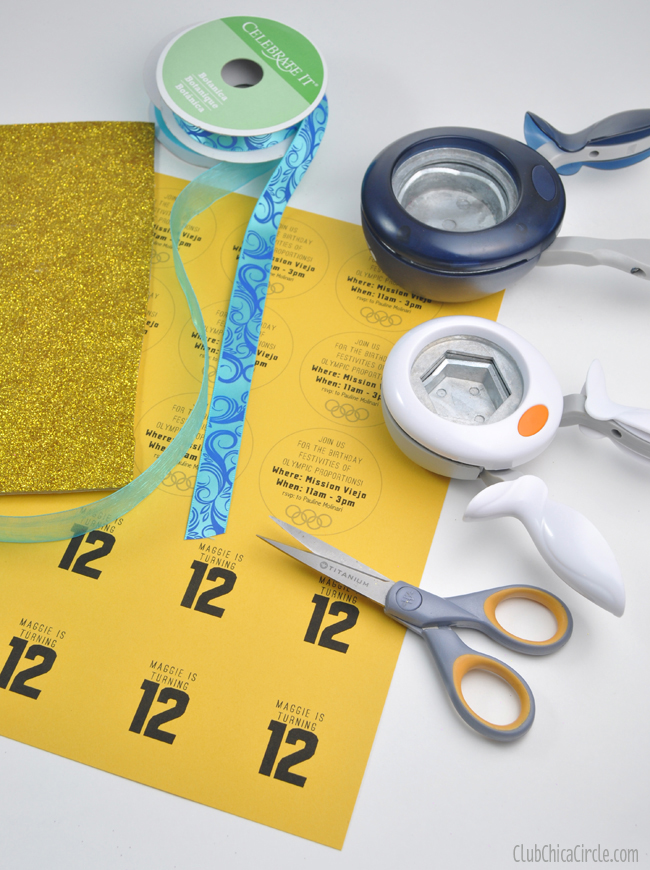 homemade olympic medal craft supplies