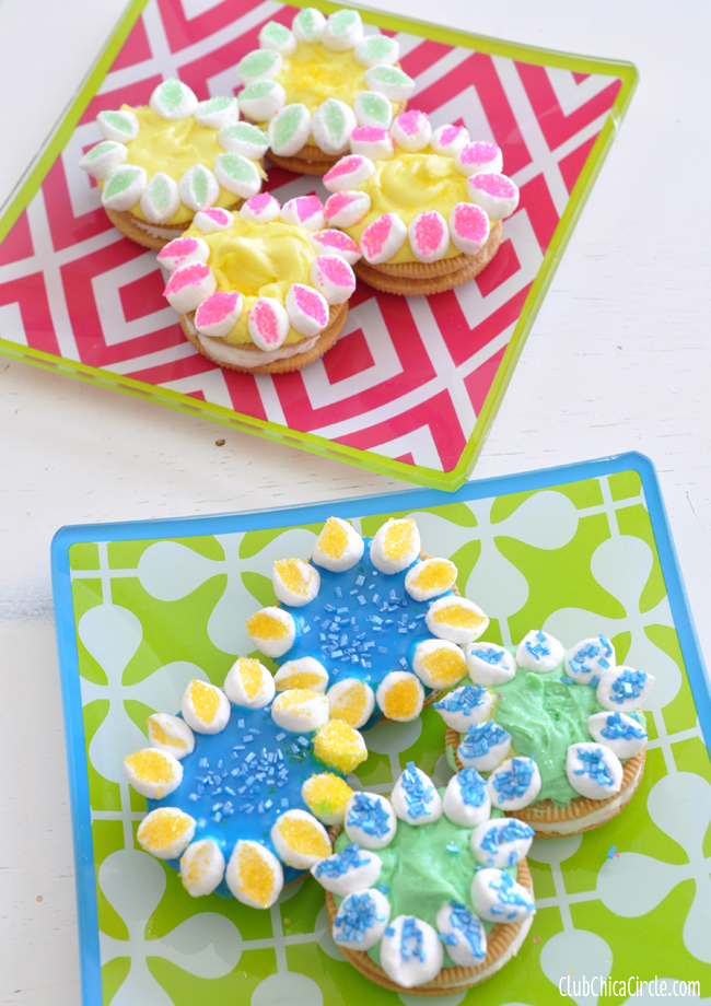 Easy Marshmallow petal flower cookies