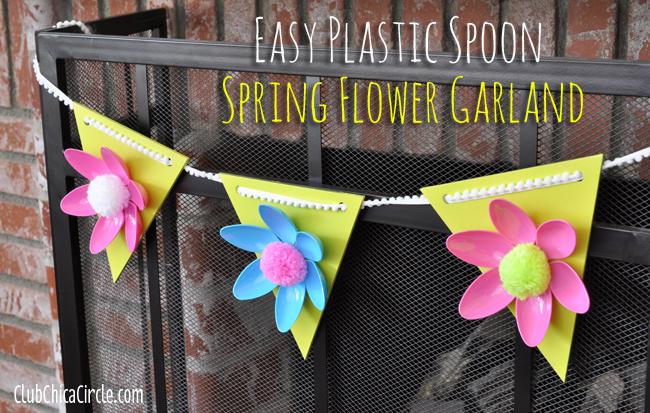 Easy Spring Flower Garland Craft Idea