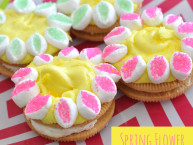 Easy Spring Flower decorated cookies DIY